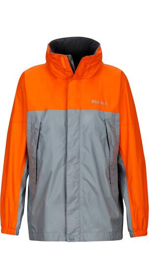 Marmot Boys PreCip Jacket Grey Storm/Bright Orange